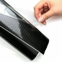 Load image into Gallery viewer, Gloss Black Carbon Fiber Vinyl Car Phone Laptop Wrap Sticker Film