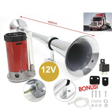 Load image into Gallery viewer, Single Trumpet Loud Air Horn Truck Mega Train w/ Compressor Lorry KIt