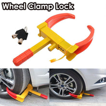 Load image into Gallery viewer, Heavy Duty Wheel Clamp Lock Vehicle Caravan Car Security Anti-theft w/ 2keys
