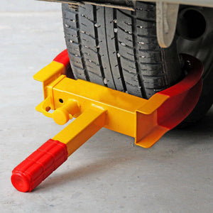 Heavy Duty Wheel Clamp Lock Vehicle Caravan Car Security Anti-theft w/ 2keys