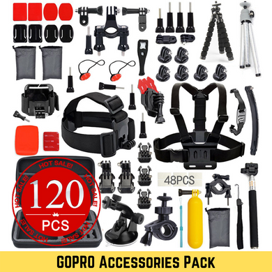 120pcs GOPRO Accessories Pack GoPro Hero 8 7 6 5