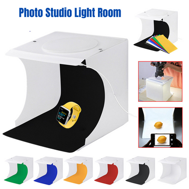 9Pc Photo Studio Light Room Photography USB LED Backdrop Cube Box