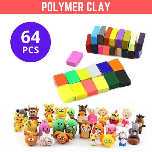 64PCS Craft Polymer Clay Modelling Moulding