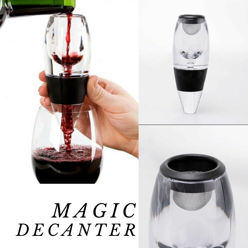 New Magic Decanter Essential RED Wine Aerator and Sediment Filter