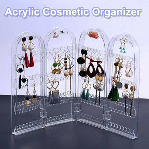 Acrylic  Earring Jewellery Necklace Display Stand Holder Storage