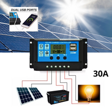 Load image into Gallery viewer, 30A LCD Display PWN Solar Panel Regulator