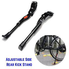 Load image into Gallery viewer, Bicycle Adjustable Side Prop Foot Kick Stand