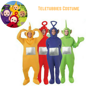 Teletubbies Adult Jumpsuit Unisex Party Outfit Halloween Costume