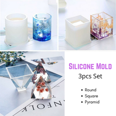3x Silicone Mold Craft Making Resin Epoxy Casting Mould DIY