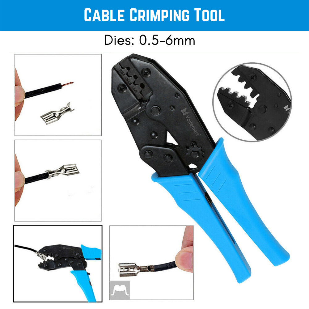 Cable Crimping Tool Non-insulated Electrical Ferrule Ratchet Wire Plier