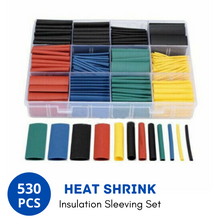 Load image into Gallery viewer, 530Pcs Heat Shrink Tubing Tube Cable Insulation Sleeving Set