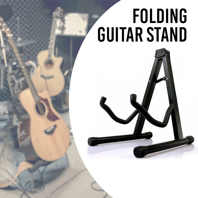 Portable Folding Guitar Stand Electric Acoustic Bass GIG Floor Rack Holder