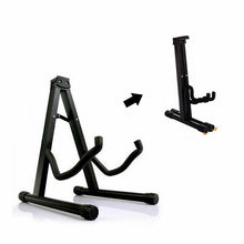 Load image into Gallery viewer, Portable Folding Guitar Stand Electric Acoustic Bass GIG Floor Rack Holder