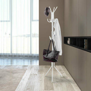 3-Tier Hat Clothes Rack Metal 12 Hook Coat Hanger Stand