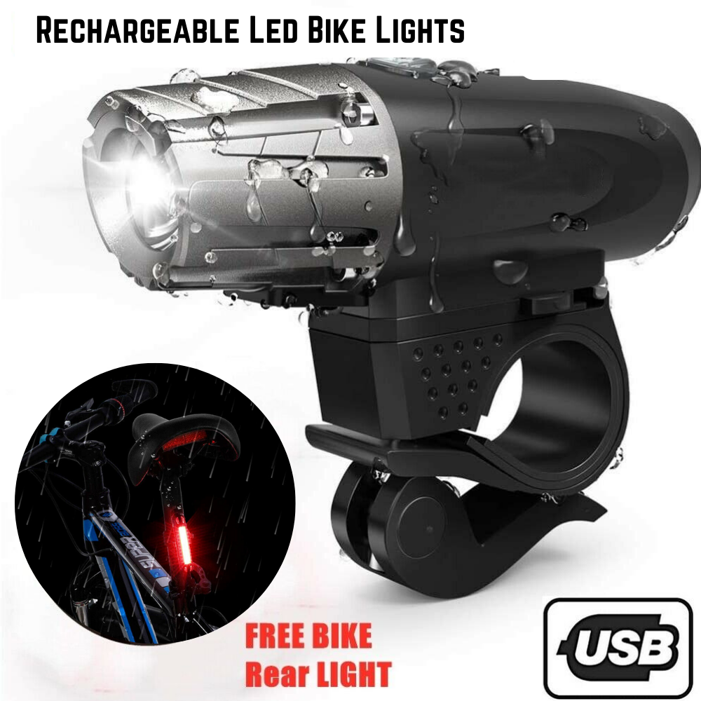 Rechargeable Waterproof LED Bike Headlight