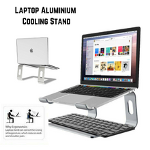 Load image into Gallery viewer, Ergonomic Aluminium Cooling Laptop Stand