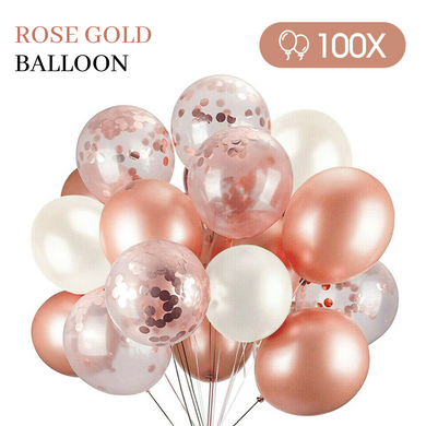 100 pcs Rose Gold Balloons For Birthday Marriage Party Decoration