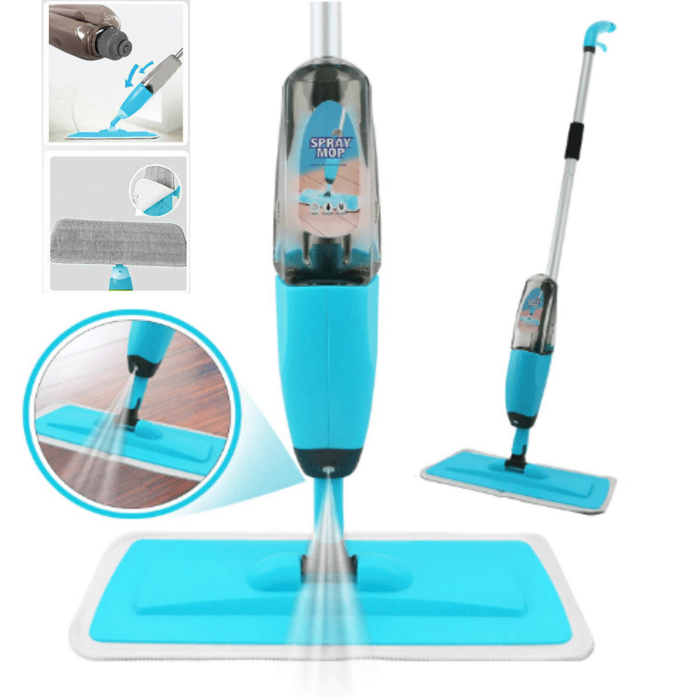 Spray Mop Microfiber Flat Mop Cleaner Household