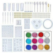 Load image into Gallery viewer, 290pcs DIY Jewelry Mould Handmade Crystal Mould Set Silicone Resin Mold Kit