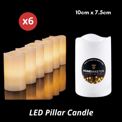 6pcs Flameless LED Pillar Candle Lights