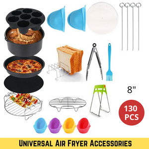 130pcs 8 inch Air Fryer Accessories Universal