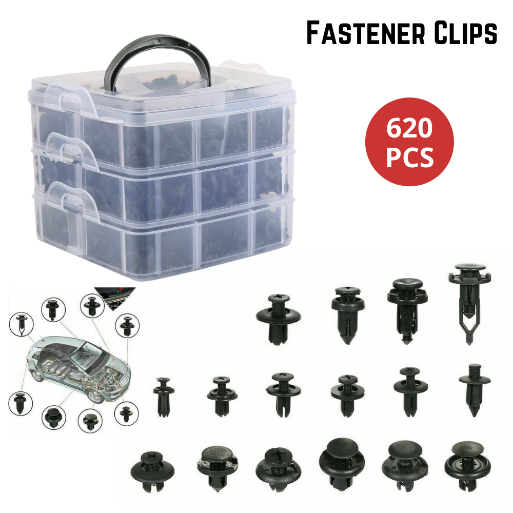 620PCS Car Trim Body Clips Kit Fastener