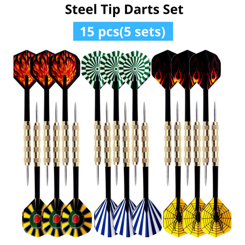 15 pcs(5 sets) of Steel Tip Darts