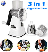 Load image into Gallery viewer, Multifunction Vegetable Slicer Cutter Grater Manual Food Chopper Machine 3-Blade