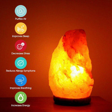 Himalayan Salt Lamp Natural Crystal Rock Shape Dimmer Switch Night Light 2-3kg/3-5kg