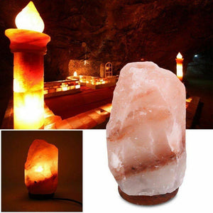 Himalayan Salt Lamp Natural Crystal Rock Shape Dimmer Switch Night Light 2-3kg