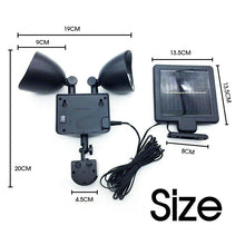 Load image into Gallery viewer, 22 LED Solar Powered Motion Sensor Dual Light Flood Lamp Security Garage