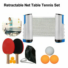 Load image into Gallery viewer, Retractable Net Table Tennis 2 Bats & 6 Balls Instant Portable Ping Pong Set