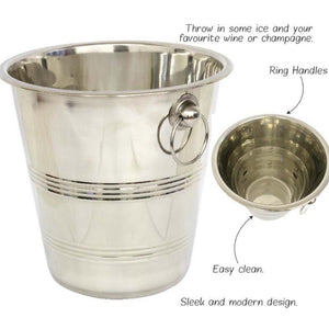 Champagne & Wine Stainless Steel Ice Bucket