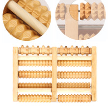 Load image into Gallery viewer, Wooden Foot Massager Roller Massage Tool