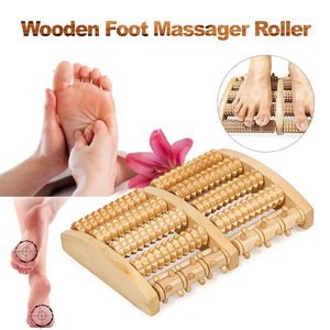Wooden Foot Massager Roller Massage Tool