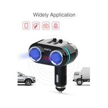 Load image into Gallery viewer, Car Charger 12V 3.1A Dual USB Socket Splitter Power Adapter Voltage Display