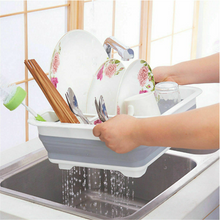 Load image into Gallery viewer, Collapsible Dish Drainer/Drying Dish Rack/Strainer Caravan