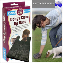 Load image into Gallery viewer, Dog Poo Bag Pet Puppy Waste Poop Pick Up Biodegradable Garbage Bags W/ Handles