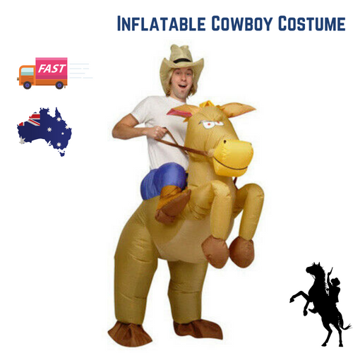 Cowboy Fancy Dress Fan Inflatable Costume Suit