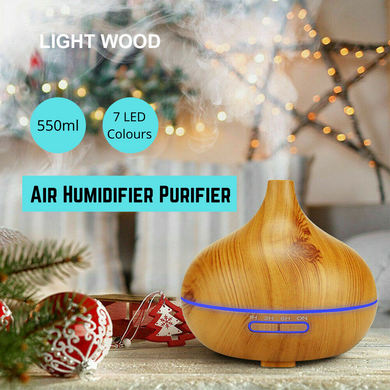 Air Humidifier Purifier Essential Oil Diffuser 550ml