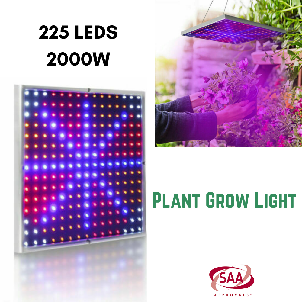 225LED 2000W Grow Light Hydroponic Kits Growing Plant Indoor Lamp