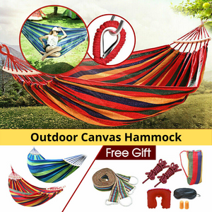 Double Hanging Hammock Outdoor Garden Camping