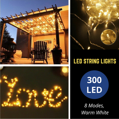 300 LED Warm White String Fairy Lights