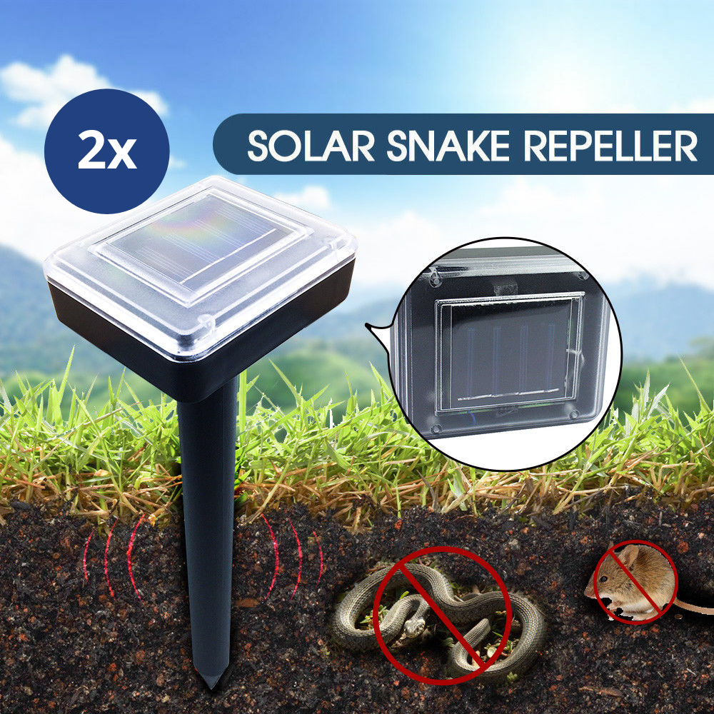 Solar Powered Snake Repeller Ultrasonic Pest Rodent Repellent