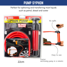 Load image into Gallery viewer, Fuel Transfer Syphon Handheld Pump