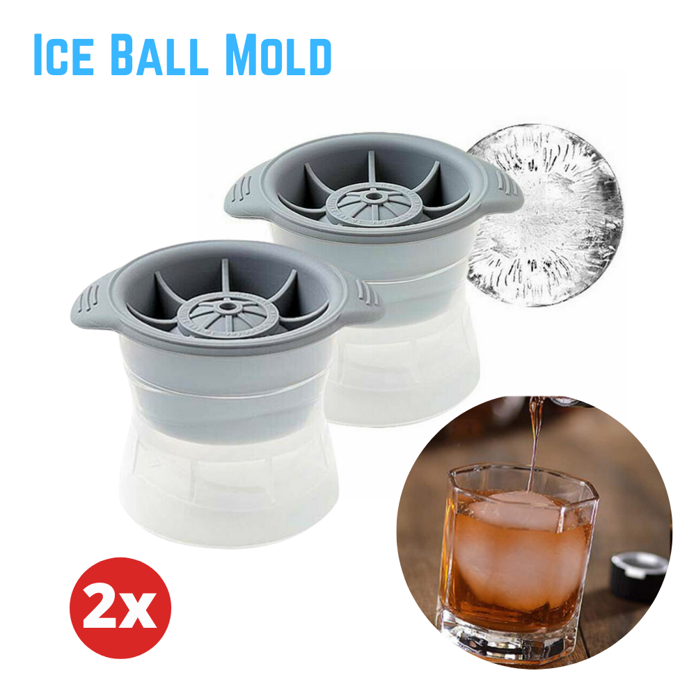 2Pcs Whiskey Cocktail ICE Ball Mold Sphere