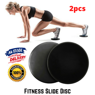 2x Gliding Sliding Fitness Discs Core Sliders