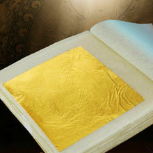 Load image into Gallery viewer, 30pcs Pure 24K Edible Gold Leaf Sheets Cooking Framing Art Craft Decorating