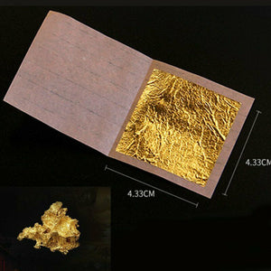 30pcs Pure 24K Edible Gold Leaf Sheets Cooking Framing Art Craft Decorating