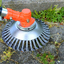 "Load image into Gallery viewer, 8"" Grass Cutter Steel Wire Trimmer Wheel Garden Lawn Mower Head Tool"